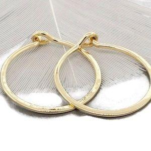 🔴Firm🔴 gold filled endless hugging hoops